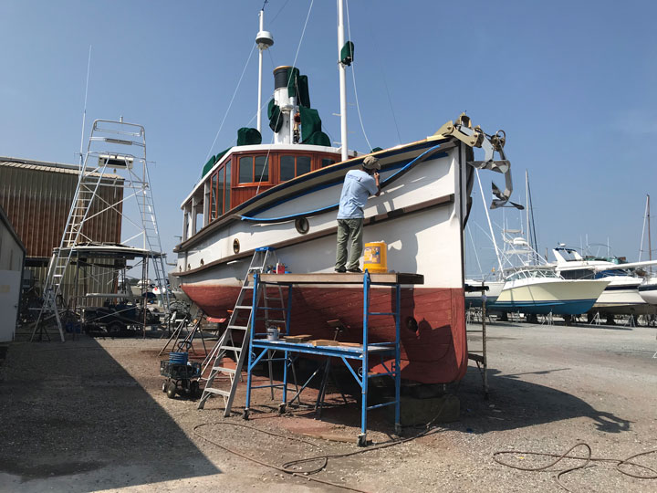 side of boat repairs